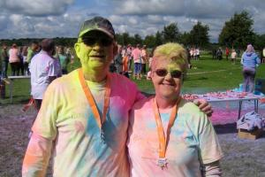 Rotarian John Goodearl is powdered for Prospect