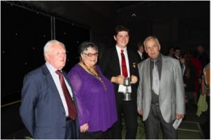 President Gail and Brian Rogers PHF and Howarth Higgs PHF pictured with Daniel Barber of St George's School