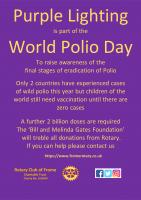 Frome Recognises World Polio Day