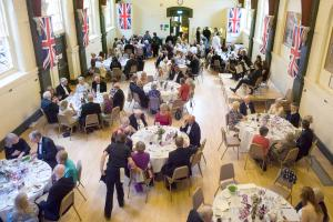 The Queen's Birthday celebrations in the Town Hall.