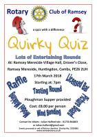 Quirky Quiz Night at Ramsey Mereside Village Hall