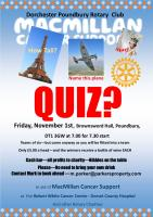 Quiz night on November 1st - book your table now