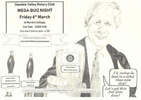 **MEGA QUIZ NIGHT** Friday 6th March 7pm at Wyvern College