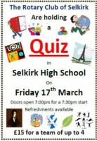 Rotary Club of Selkirk Quiz Night ** Updated **