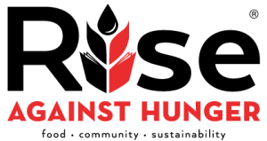 Rise against HUNGER logo.