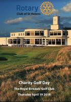 Charity Golf Day Royal Birkdale 2018