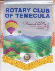 Banner of the Rotary Club of Temecula