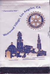 Banner of the Rotary Club of Westwood Village, Los Angeles