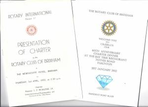 Brixham Rotary Celebrates its Diamond Jubilee
