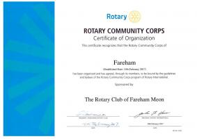 The Creation of the Rotary Community Corps of Fareham