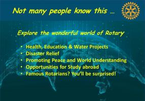 A look at the wider world of Rotary