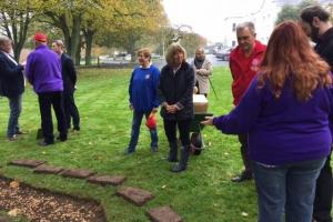 20,000 Purple4Polio crocus corms planted in the grounds of Government House (15 November 2016)