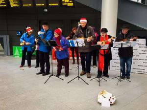Ukulele band at Victoria
