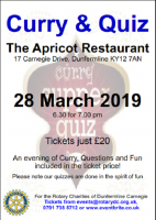 Curry & Quiz at The Apricot Restaurant