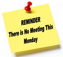 1st Monday of the Month No Meeting