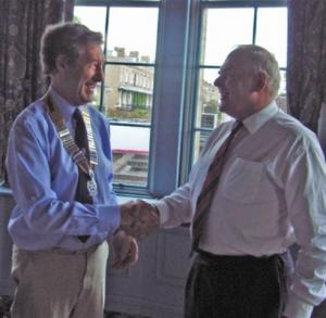 Club Handover - A welcome to our new president Michael Lang