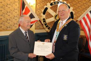 Mick Clough's 50 years in Rotary - June 2013