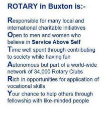 What is Buxton Rotary in 100 Words or Less?