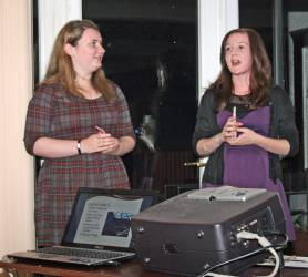 Lauren Pennycook and Kelly Simmonds, who are both students at Beeslack High School, visited the club to tell us all about their recent experiences at RYLA (Rotary Youth Leadership Award). They had been selected and sponsored by the club.
