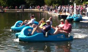 Raft Race at Coronation Park Boating Lake