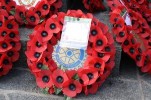 Rotary Club of Guernsey remembers those who gave so much service above self interest (12 November 2017)