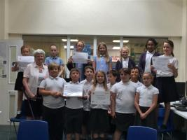St Mary's Rotakids with citation