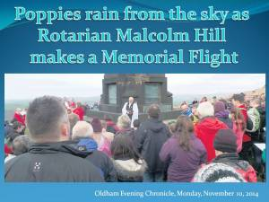 Rotarian Malcolm Hill's Memorial Flight