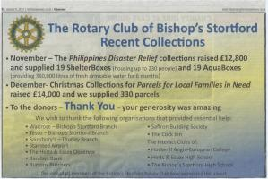 Thank You Advert - Philippines Disaster & Christmas Collections