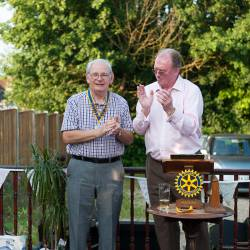 Club Handover - President Peter takes the reins