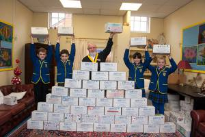Rotary Shoebox Scheme at St Margaret's School Gosfield