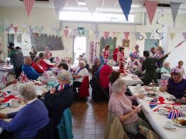 Community tea party to celebrate queens jubilee and forthcoming Olympics