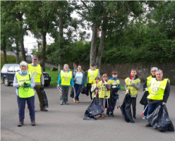 Rotarians helping with the Community Litter Pick