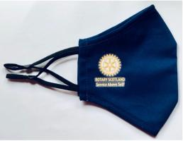 Rotary Scotland 'Service Above Self' Face Mask.