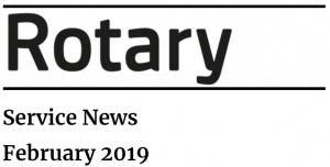 About Rotary - Service News 2019
