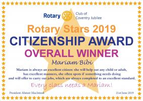 Rotary Stars Citizenship Award