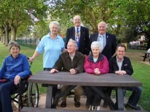 Rotary help Friends of Bailey Park with cost of new picnic benches (Sept 2011)