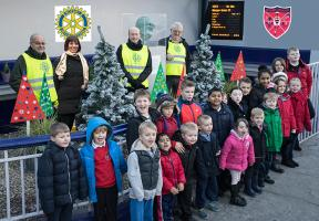 Allan's Primary School Christmas Trees at Station