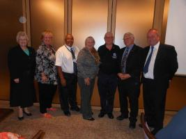 President Susan with representatives of supported charities