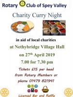 2019 Curry night in aid of RYLA and Polio Plus