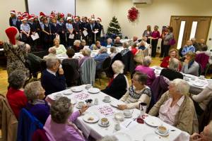 Everyone in fine voice at the Senior Citizens Christmas Tea Party