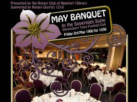 A Black Tie Gala Dinner will take place at Shrewsbury Town Football Club on Friday 3rd May 2013 at 7 pm in aid of the Military Wives Choir Foundation, Debra and Rotary Charities