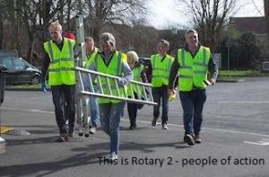 Rotary 2 volunteers supporting their community