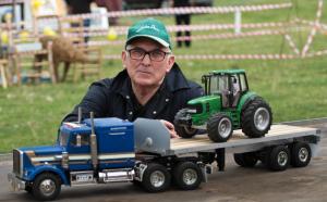 Real and model Tractors on show At St Asaph Country Fayre