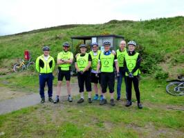 Photos of Thurso Club members who took part in the Cycle for Polio in 2017.