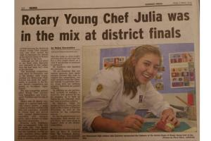 Young Chef District Final 2013