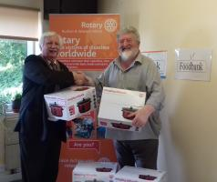 Rotary donate 10 slow cookers to the  Isle of Man Foodbank - July 2018