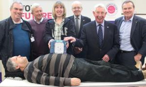 Peoples Kitchen in Newcastle received a defibrillator