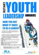 We sponsor two places for Youth Leadership camp