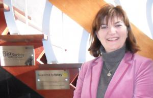 Nicky Morgan unveils Rotary plaque