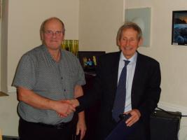 Richard Backwell awarded Paul Harris Fellow